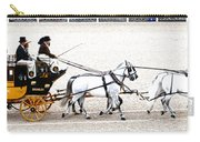White Coach Horses Carry-all Pouch
