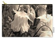 White Columbine Lanterns Monochrome Horizontal Carry-all Pouch