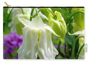 White Columbine Lanterns Verticle Carry-all Pouch