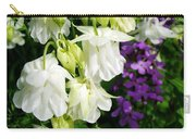 White Columbine With Purple Phlox Carry-all Pouch