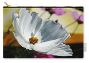 White Cosmos Yellow Umbrella Carry-all Pouch