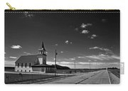 White Country Chuch And Road Carry-all Pouch