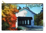 White Covered Bridge  Colorful Autumn New England Carry-all Pouch