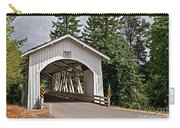 White Covered Bridge Hannah Bridge Art Prints Carry-all Pouch