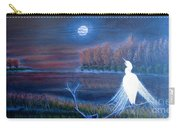 White Crane Dancing In The Light Of The Moon Carry-all Pouch