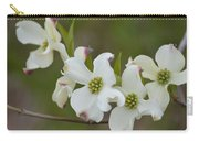 White Cross Flowers Carry-all Pouch
