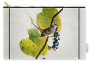 White Crowned Finch Square Carry-all Pouch