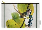 White Crowned Finch Vertical Carry-all Pouch