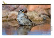 White-crowned Sparrow Bathing Carry-all Pouch