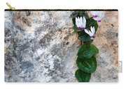 White Cyclamen Flowers Carry-all Pouch