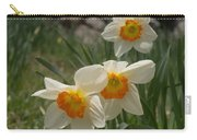 White Daffies Carry-all Pouch