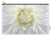 White Dahlia Floral Delight Carry-all Pouch
