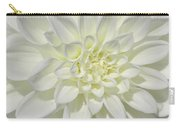 White Dahlia Square Carry-all Pouch
