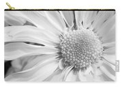 White Daisy Carry-all Pouch by Adam Romanowicz