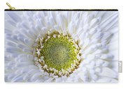 White Daisy Close Up Carry-all Pouch