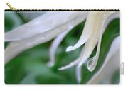 White Daisy Petals Raindrops Carry-all Pouch
