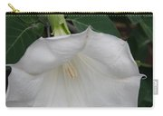 White Datura Carry-all Pouch