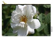 White Dog Rose Carry-all Pouch