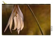 White Dogtooth Violet Carry-all Pouch