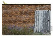 White Door In Brick Building Carry-all Pouch