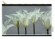 White Early Dawn Tulips Black Border Carry-all Pouch