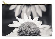 White Echinacea Flower Or Coneflower Carry-all Pouch by Adam Romanowicz
