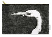 White Egret Art - The Great One - By Sharon Cummings Carry-all Pouch