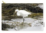 White Egret Carry-all Pouch