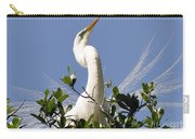 White Egret In Spring Carry-all Pouch
