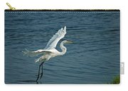 White Egret Landing Carry-all Pouch