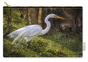 White Egret On The Hunt Carry-all Pouch