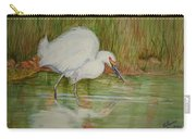 White Egret Wading  Carry-all Pouch