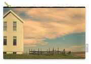 White Farmhouse And Corral Carry-all Pouch