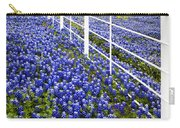 White Fence - Blue Bonnets Carry-all Pouch