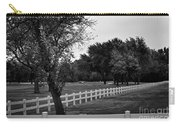 White Fence On The Wooded Green Carry-all Pouch