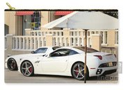 White Ferrari At The Store Carry-all Pouch