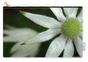 White Flannel Flowers Carry-all Pouch