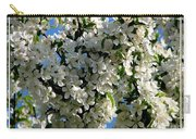 White Flowering Crabapple Tree Carry-all Pouch