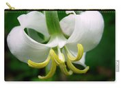 White Flowering Rose Trillium Carry-all Pouch