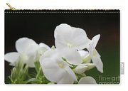 White Flowers 3 Carry-all Pouch