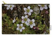White Flowers And Moss Carry-all Pouch