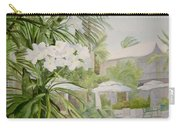 White Flowers Aruba Carry-all Pouch