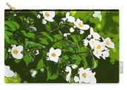 White Flowers II Carry-all Pouch