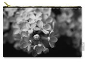 White Flowers In Black And White Carry-all Pouch