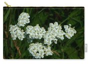 White Flowers In Green Field Carry-all Pouch