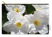 White Flowers In The Desert Carry-all Pouch