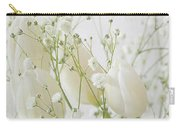 White Flowers Pi Carry-all Pouch