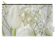 White Flowers Pii Carry-all Pouch