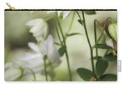 White Frilly Columbines Carry-all Pouch