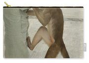 White-fronted Capuchin Checking Pocket Carry-all Pouch